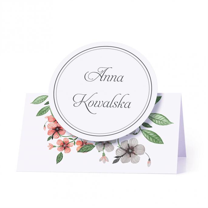Winietka weselna motyw kwiatowy retro personalizacja