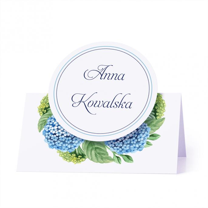 Winietka weselna motyw kwiatowy hortensja personalizacja