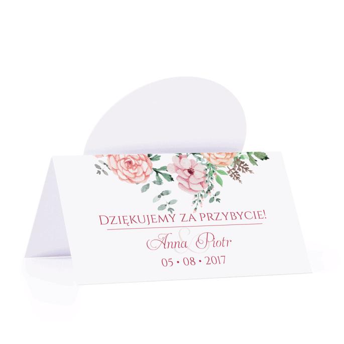 Winietka weselna motyw kwiatowy florals personalizacja