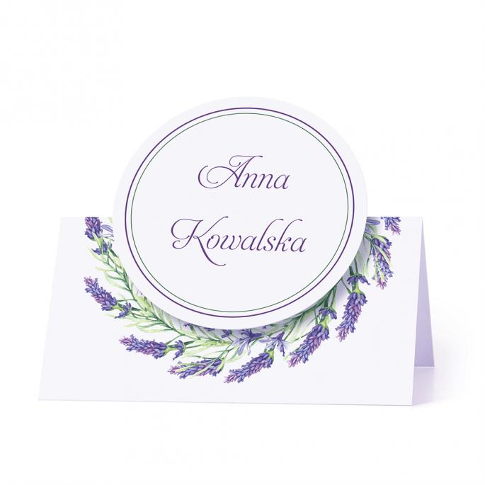 Winietka weselna motyw kwiatowy lawenda personalizacja