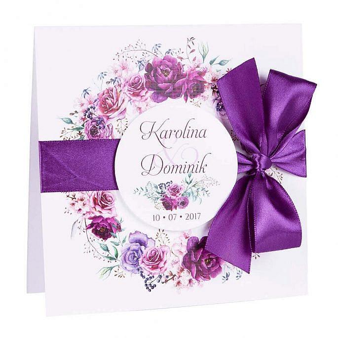 zaproszenia ślubne florals w6