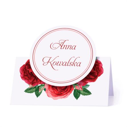 Winietka weselna motyw kwiatowy róże personalizacja