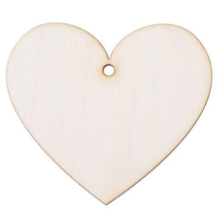 Drewniana ozdoba zawieszka na choinkę święta serce