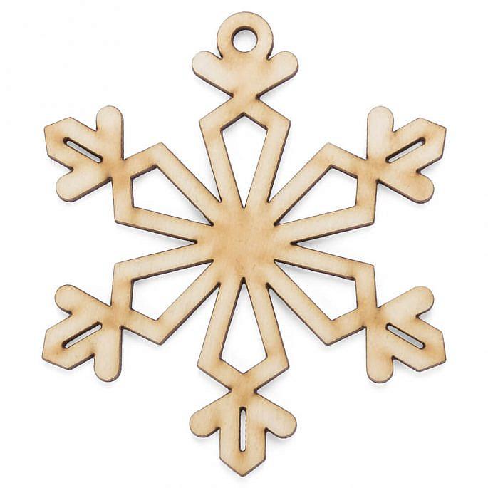 Drewniana ozdoba zawieszka na choinkę święta gwiazdka