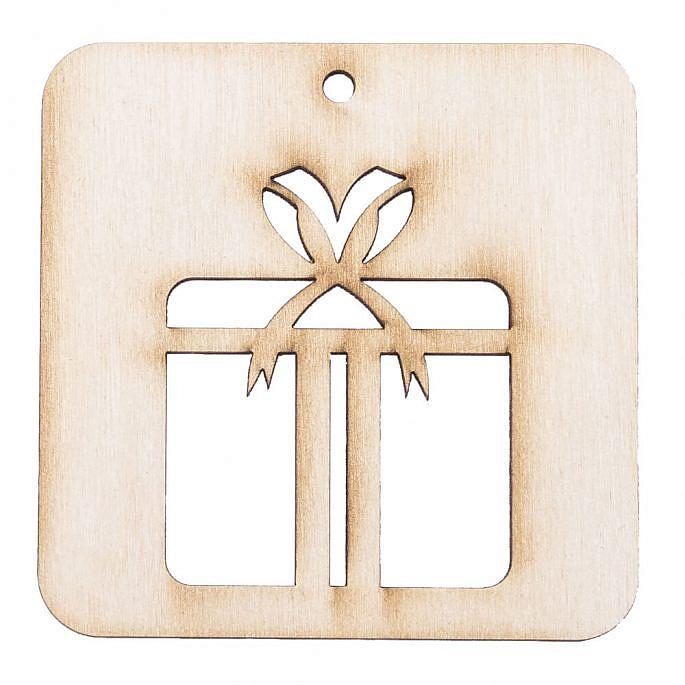Drewniana ozdoba zawieszka na choinkę święta prezent