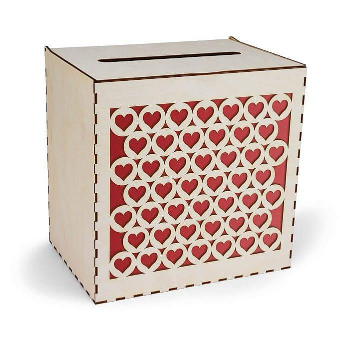 drewniana skrzynka na koperty ślubne