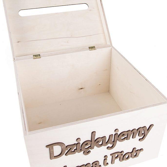 Drewniana szkatułka pudełko na koperty