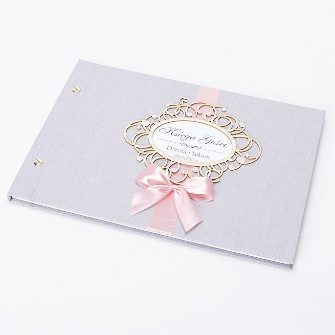 Księga na wpisy gości weselnych personalizacja kolory