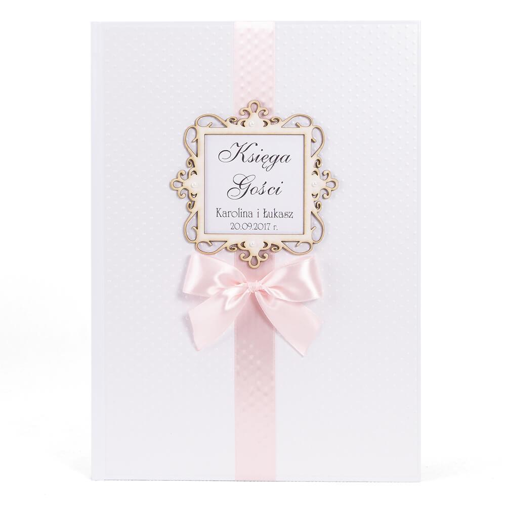 Księga na wpisy gości weselnych życzenia dla pary młodej