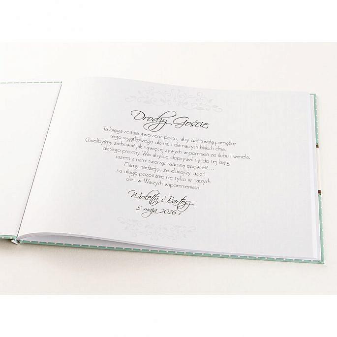 Księga gości na wpisy a4 twarda okładka kolorowa