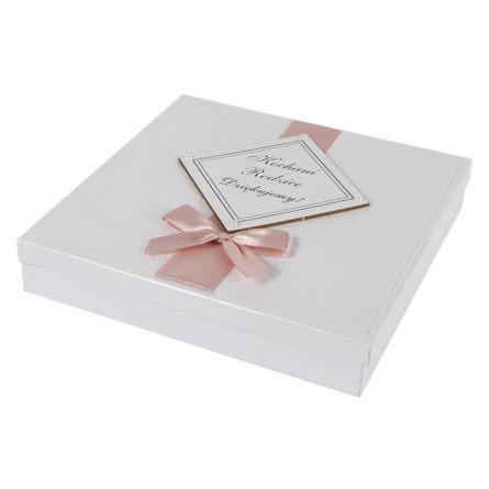 Eleganckie papierowe zaproszenie podziękowanie dla rodziców pamiątka