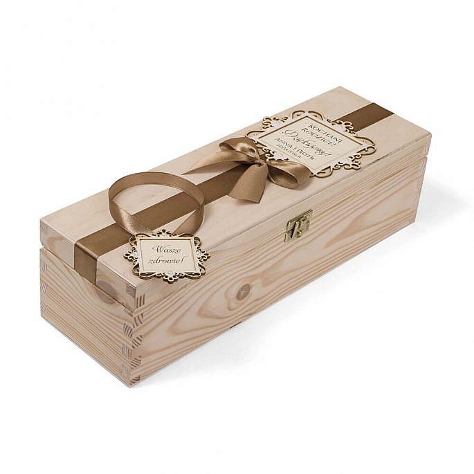 Skrzynka na alkohol wino podziękowanie prezent życzenia