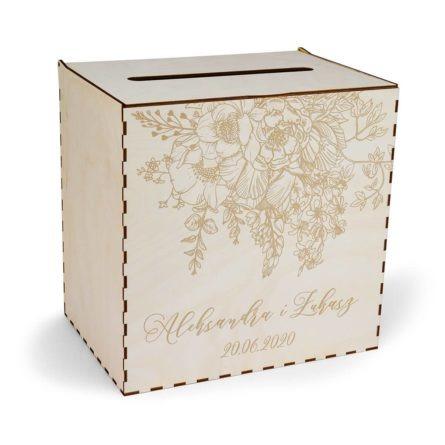 elegancka skrzynka na koperty z kwiatami