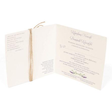 Zaproszenia ślubne Z Grafiką Kwiatów Lawendy