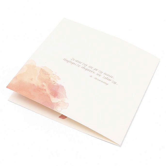 Zaproszenie ślubne modny wzór kwiatowy