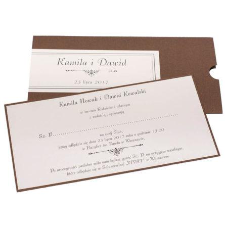Oryginalne gustowne zaproszenie ślubne kolory