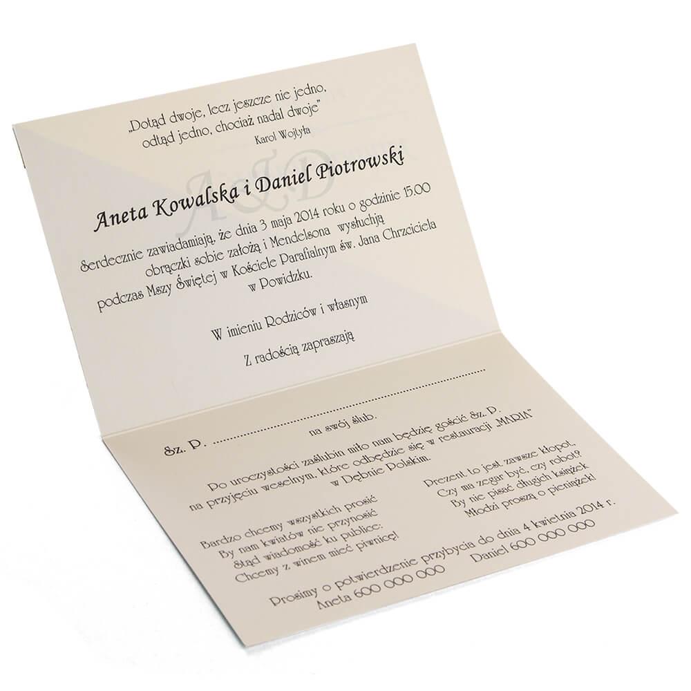 Zaproszenia ślubne Celia Artma
