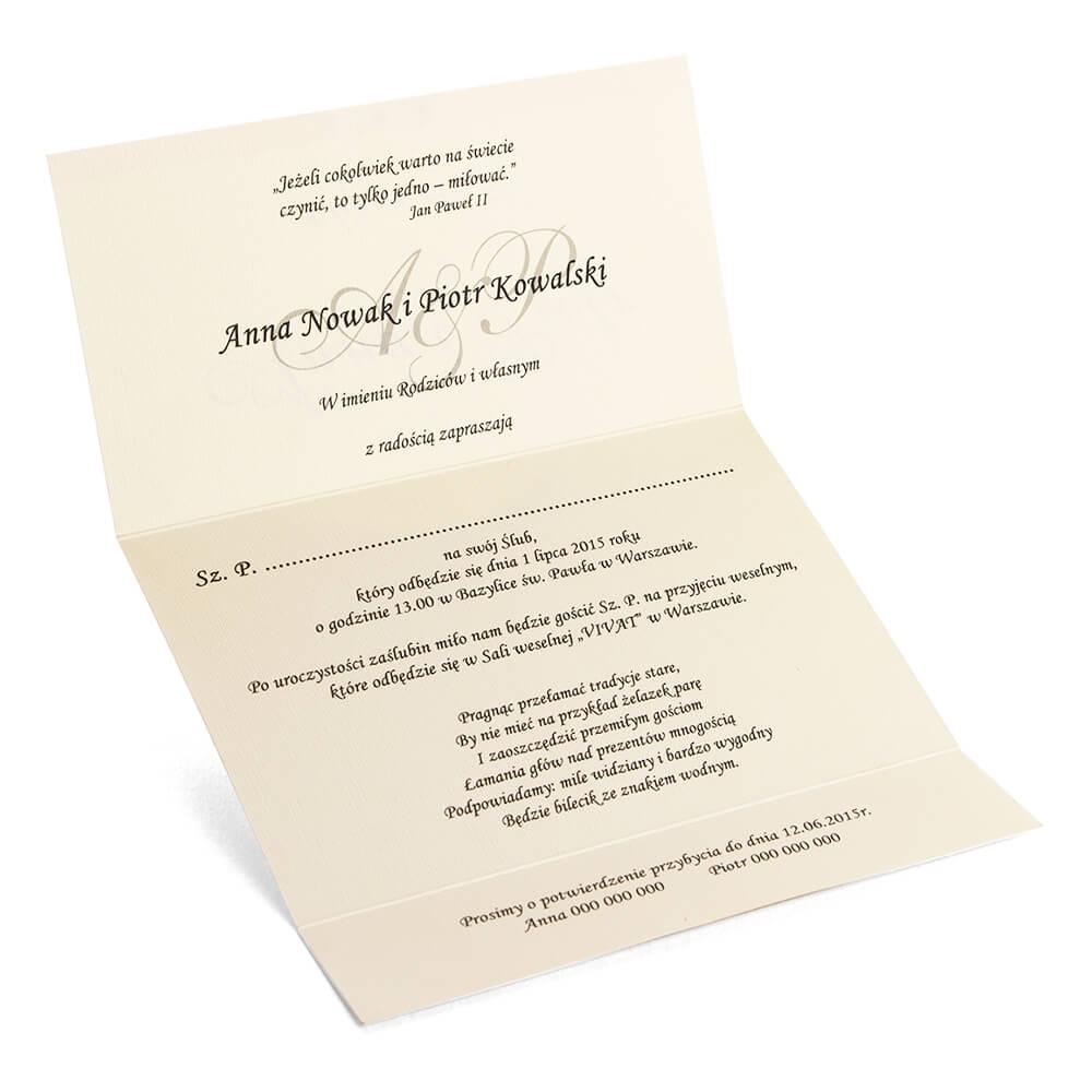 Zaproszenia ślubne Diana Artma