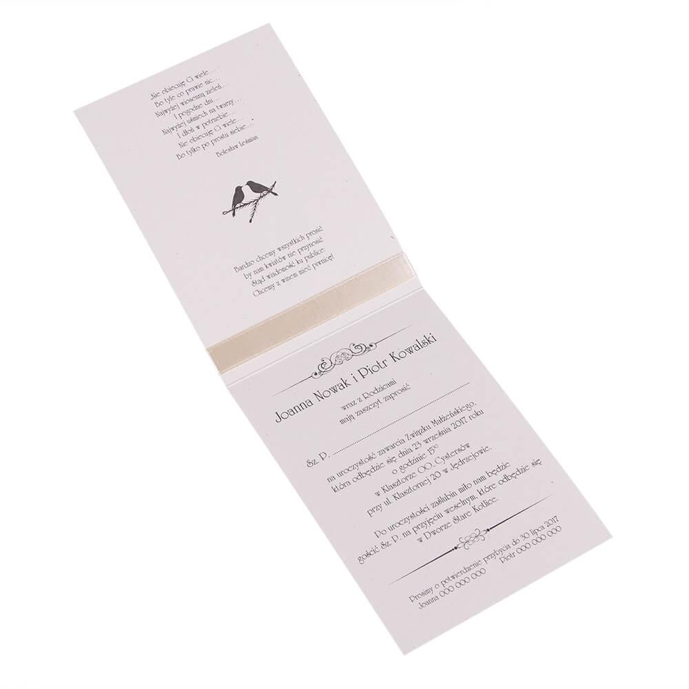 Zaproszenia ślubne Wzór Kartka Z Kalendarza