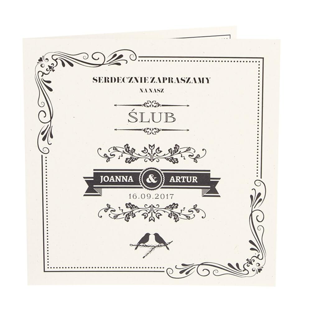 Zaproszenia ślubne Z Nadrukiem W Stylu Vintage