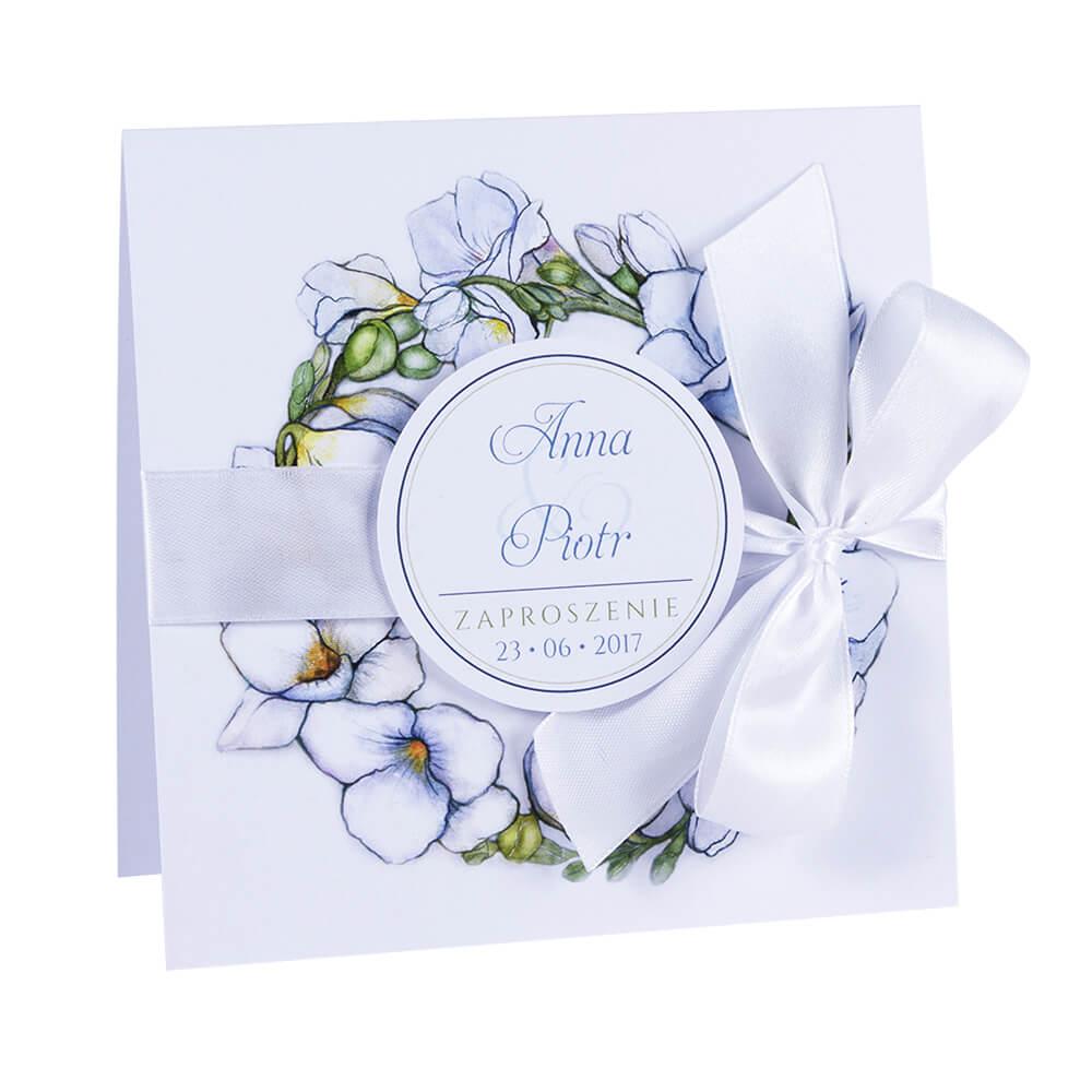 Zaproszenia ślubne Z Grafiką Kwiatów Frezji