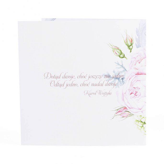 Zaproszenia ślubne modna grafika kwiatów