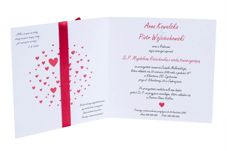 Oryginalne Zaproszenia Na ślub Z Motywem Miłosnym