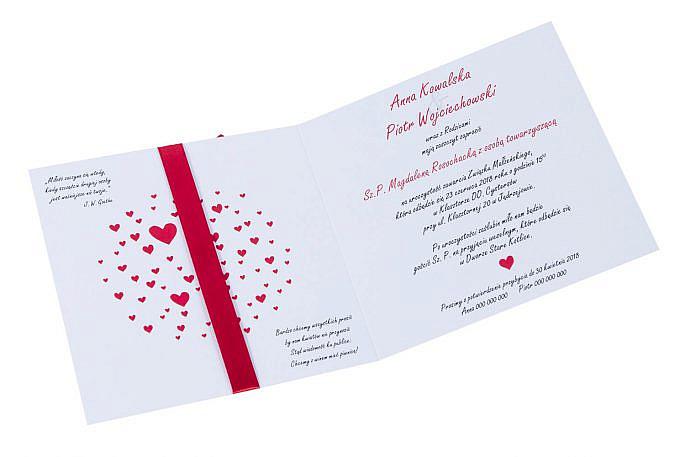 Wyjątkowe niepowtarzalne ręcznie malowane zaproszenia ślubne love serca para młoda