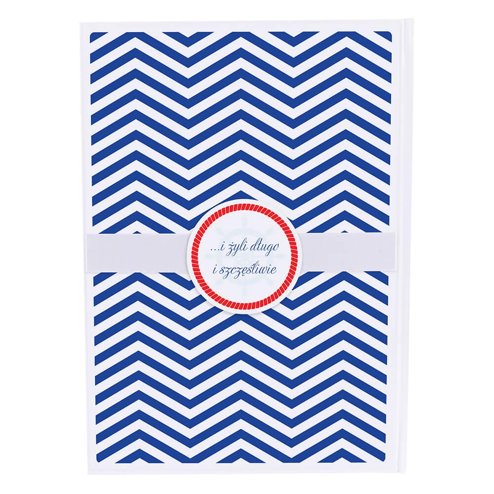 Księga gości na wpisy weselne papierowa książka a4 twarda okładka motyw marynarski