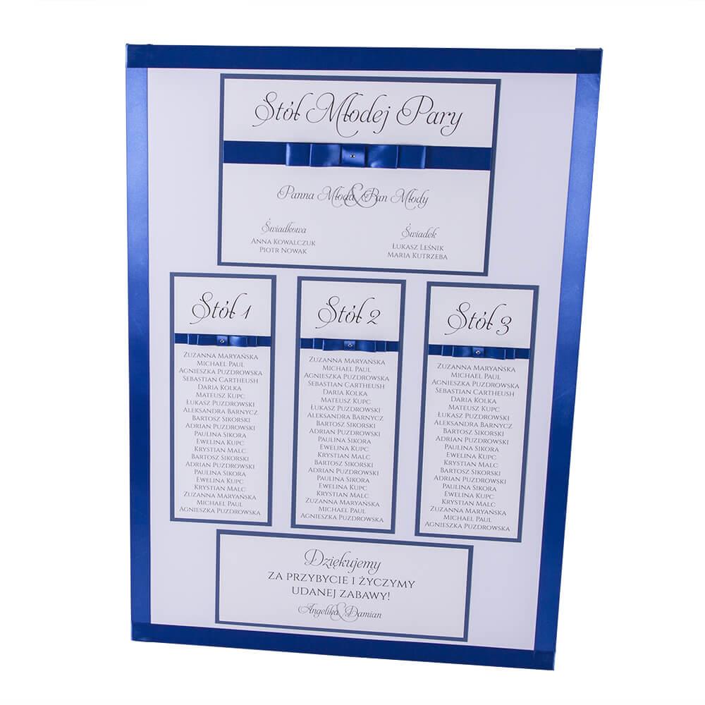 Plan usadzenie gości przy stołach wesele rozpiska