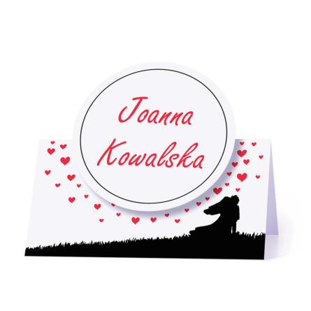 Winietka weselna motyw love serca para młoda personalizacja