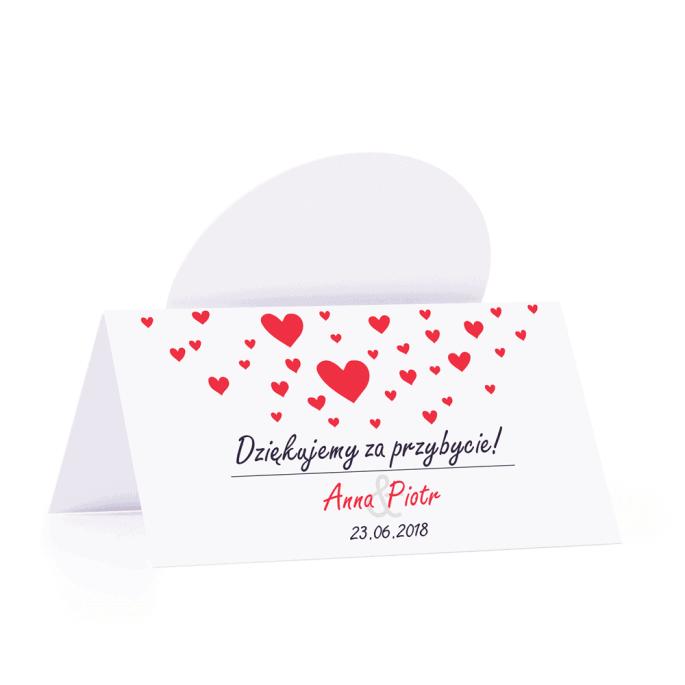 Winietka weselna motyw love serce personalizacja