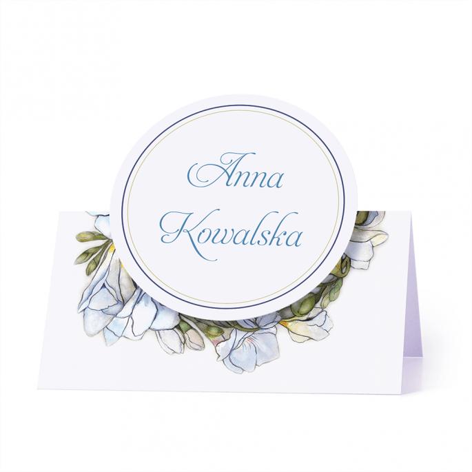 Winietka weselna motyw kwiatowy frezje personalizacja