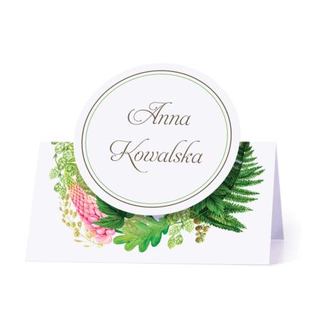 Winietka weselna motyw kwiatowy łubin paproć personalizacja