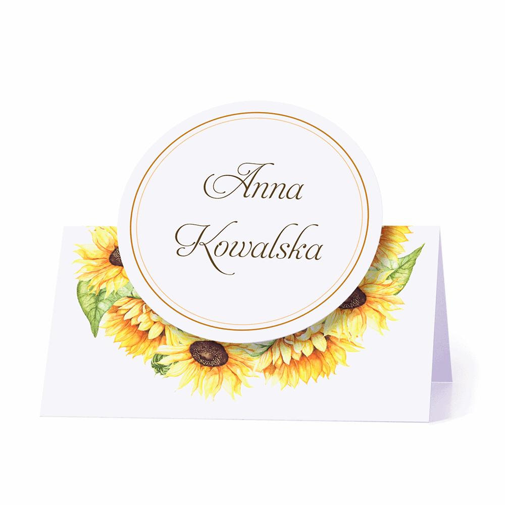 Winietka weselna na stół motyw kwiatów