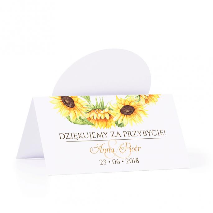 Winietka weselna personalizacja motyw kwiatowy