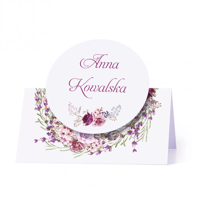 Winietka weselna motyw kwiatowy personalizacja