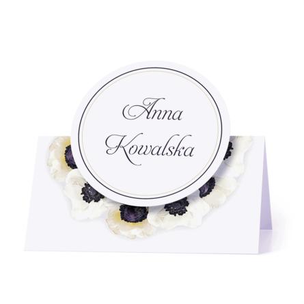 Winietka weselna motyw kwiatowy anemony personalizacja