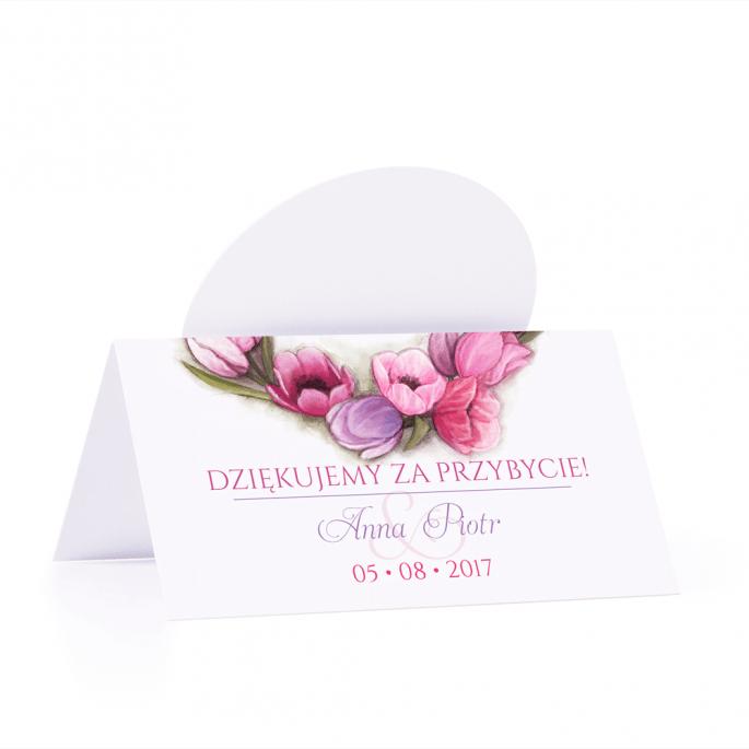 Winietka weselna motyw kwiatowy tulipany personalizacja