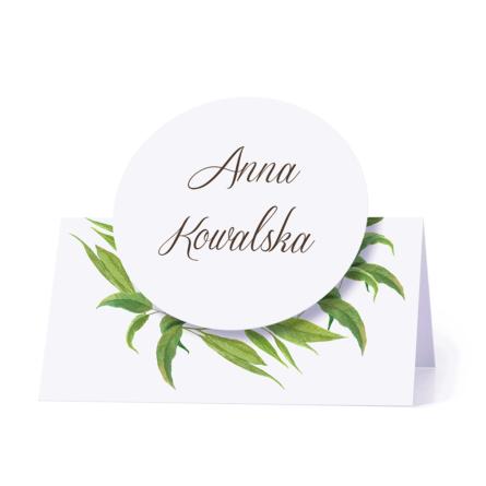 Winietka weselna motyw kwiatowy eukaliptus personalizacja
