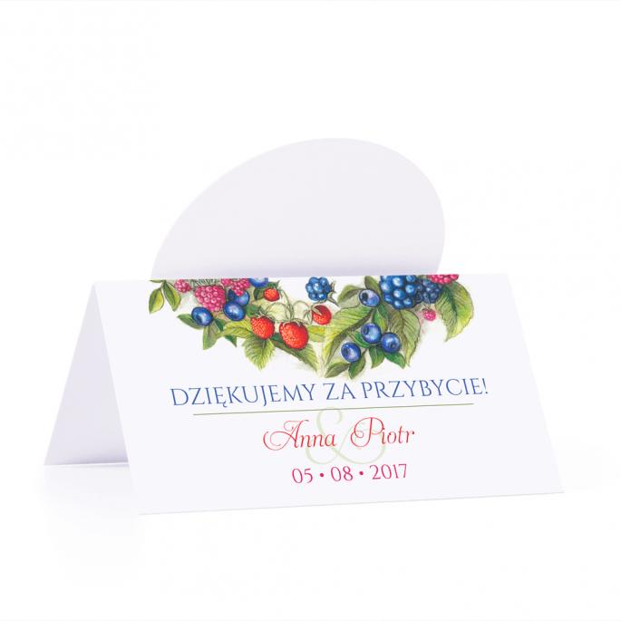 Winietka weselna motyw owoce leśne personalizacja