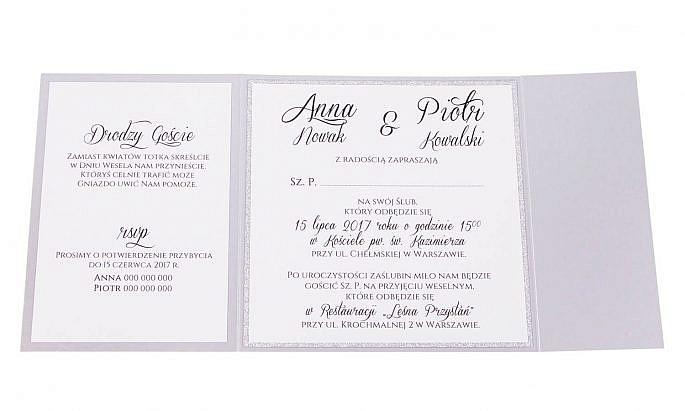 Eleganckie modne zaproszenia ślubne