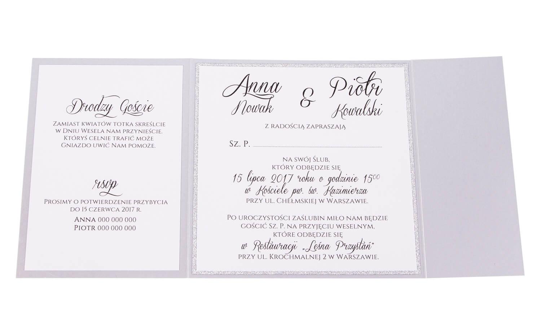 Zaproszenia ślubne Kolekcja Glamour Wzór 5