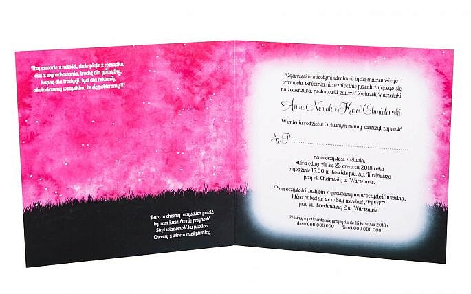 Ręcznie malowane niepowtarzalne zaproszenia ślubne