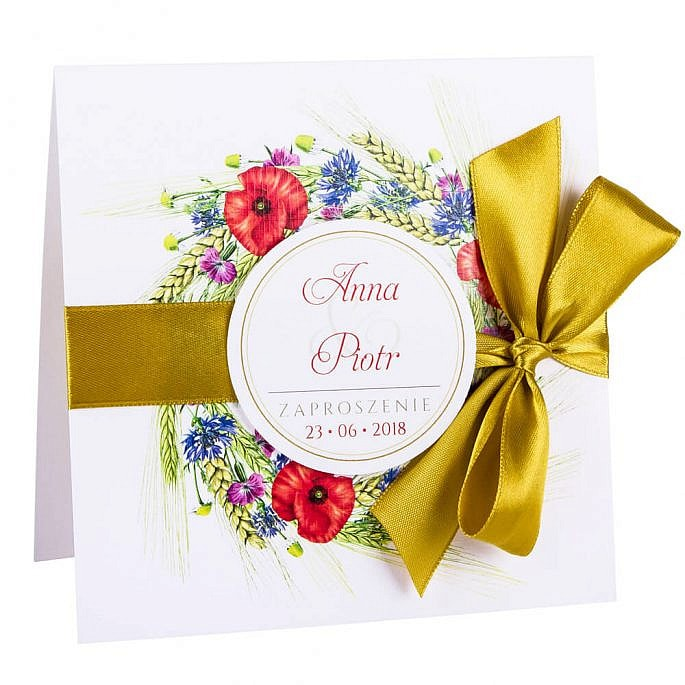 Eleganckie modne kwiatowe zaproszenia ślubne