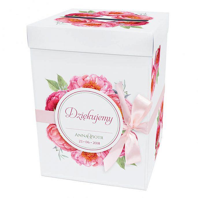 Pudełko na koperty prezenty ślubne motyw kwiatowy