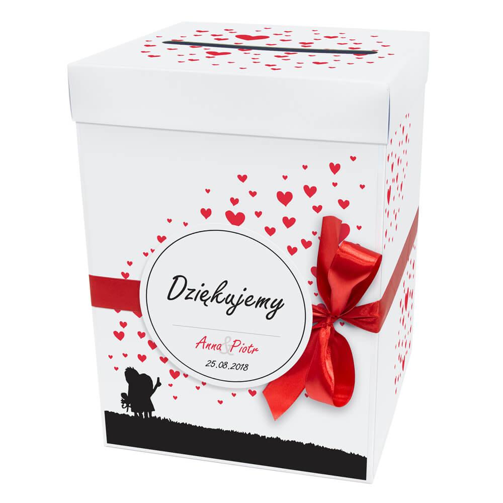 Pudełko na koperty prezenty od gości weselnych