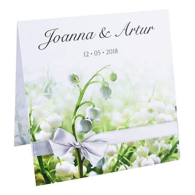 Eleganckie kwiatowe modne zaproszenie na ślub i wesele dla gości