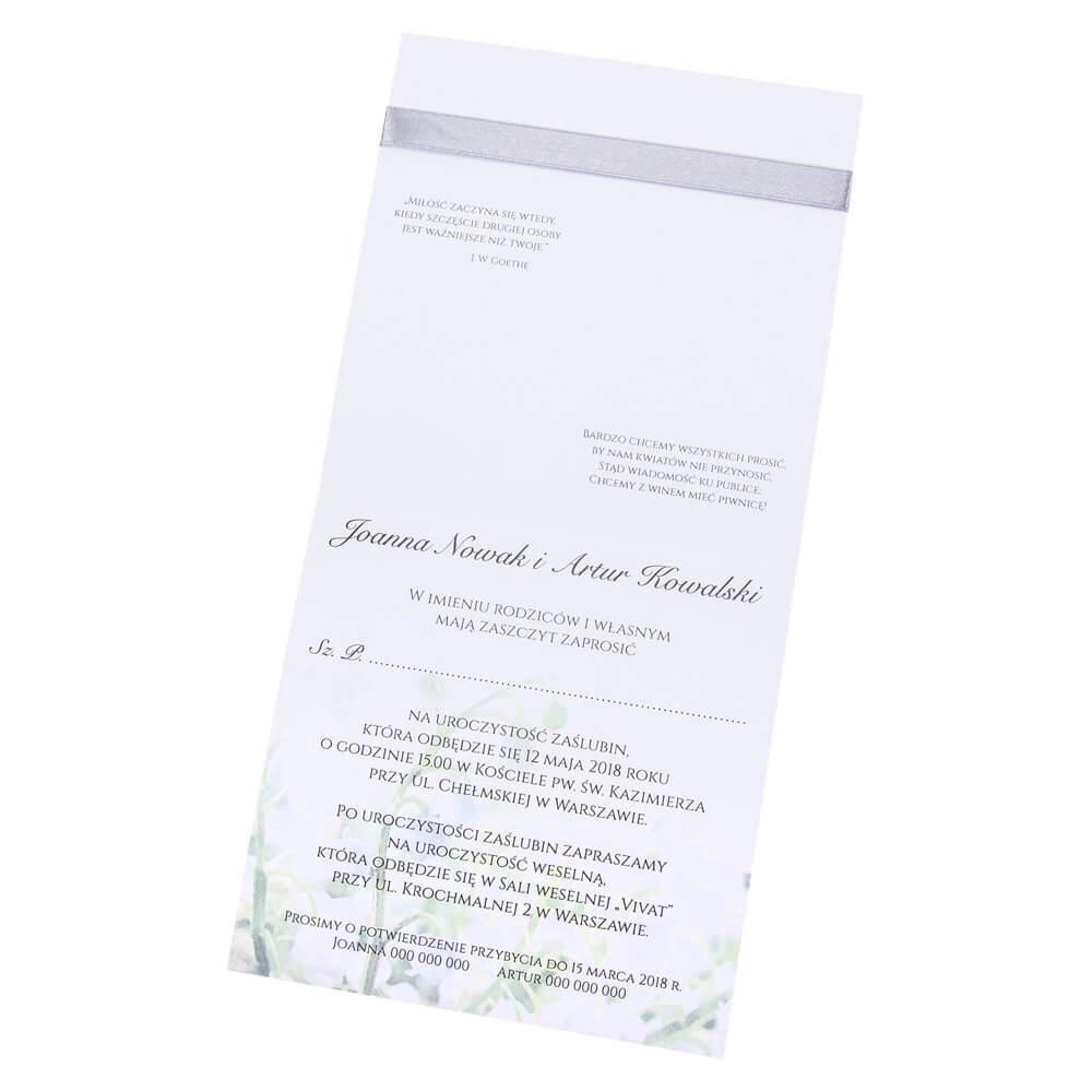 Eleganckie Zaproszenia ślubne Z Grafiką Konwalii