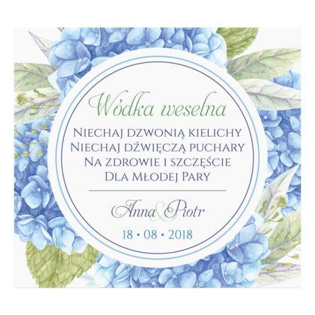 Naklejka naalkohol wódkę weselną kwiaty